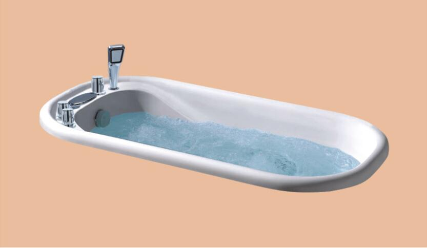 1200mm Fiberglass Drop-in whirlpool Bathtub Acrylic Hydromassage Embedded Tub NS6011
