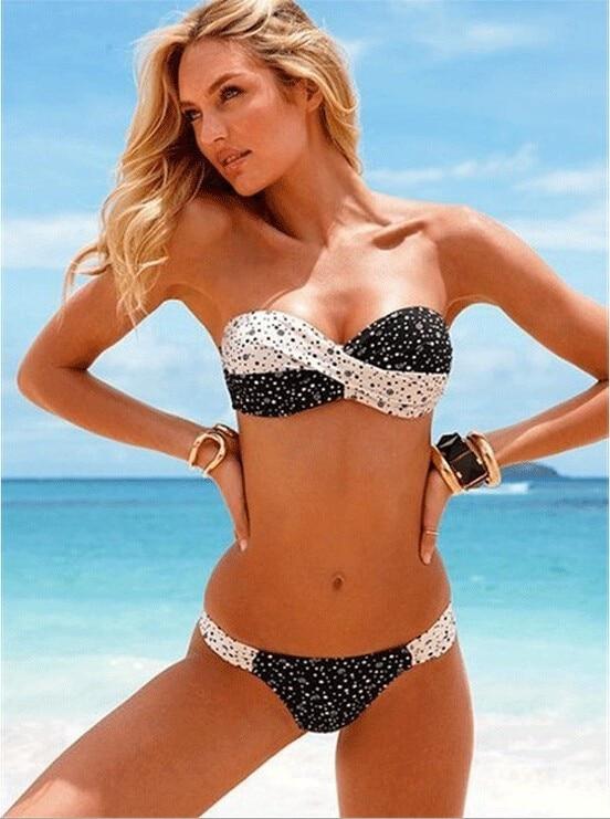 Bikini poletni športni jopiči agent Provocateur kopalke Push Up kvačkanje neopren Brezplačna dostava