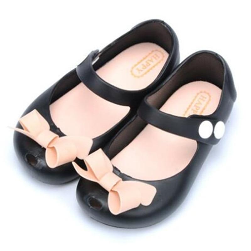 2017 Mini Melissa Mini Cute Bows Želejas meitenes Sandales Melissa - Bērnu apavi