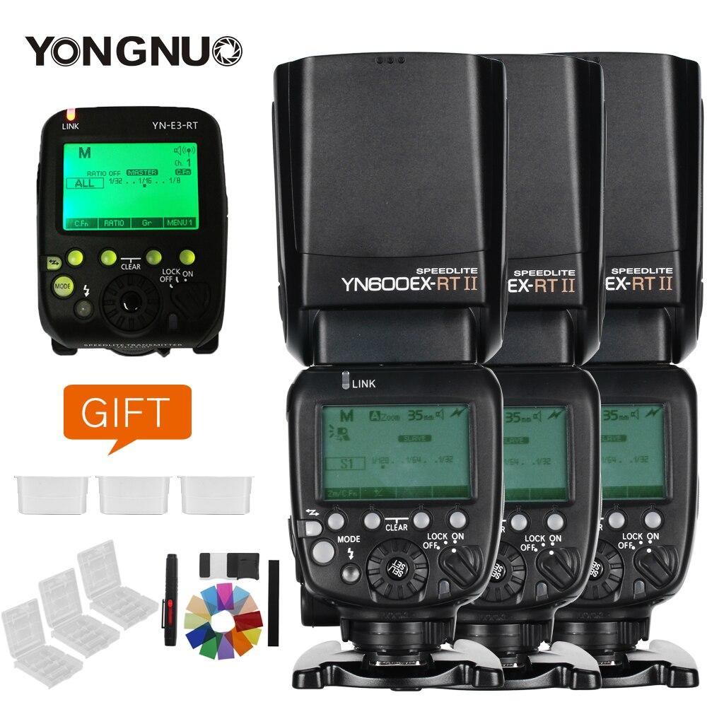 Galleria fotografica 3x yongnuo yn600ex-rt ii 2.4g sans fil hss 1/8000 s maître ttl flash speedlite + yn-e3-rt trigger pour <font><b>canon</b></font> 5d3 7d 6d 70d 60d 5d