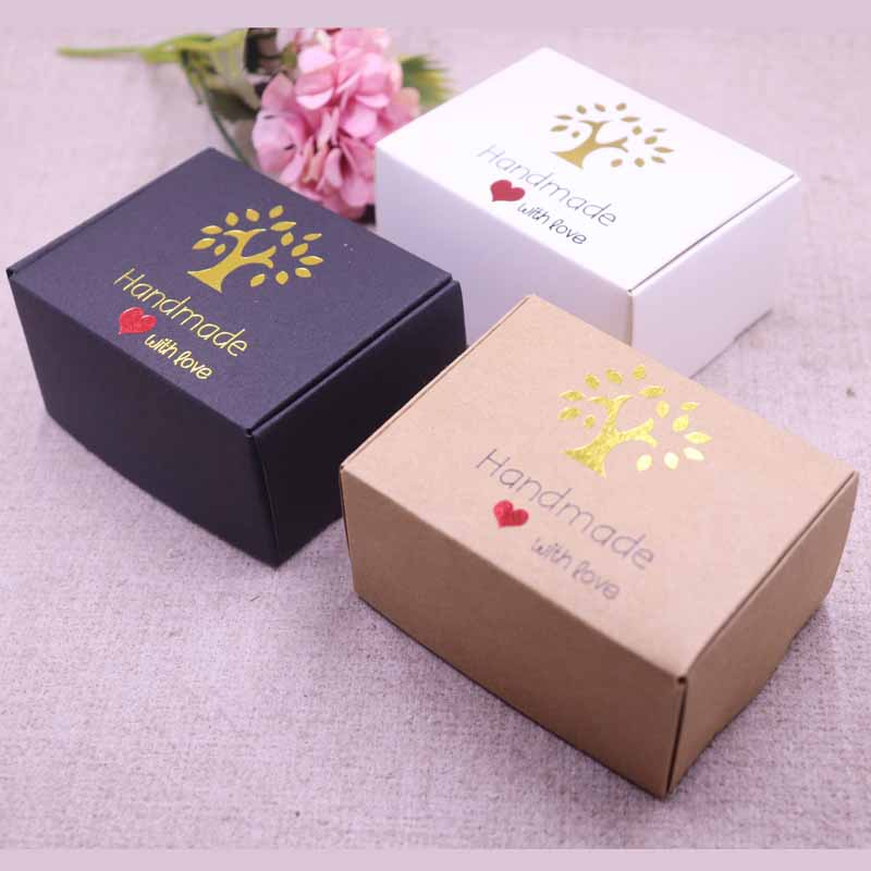 New DIY  Multi Styles Gift/candy/packing Box DIY Handmade With Love Cardboard Gift Package & Wedding Favourate BOX Red Heart