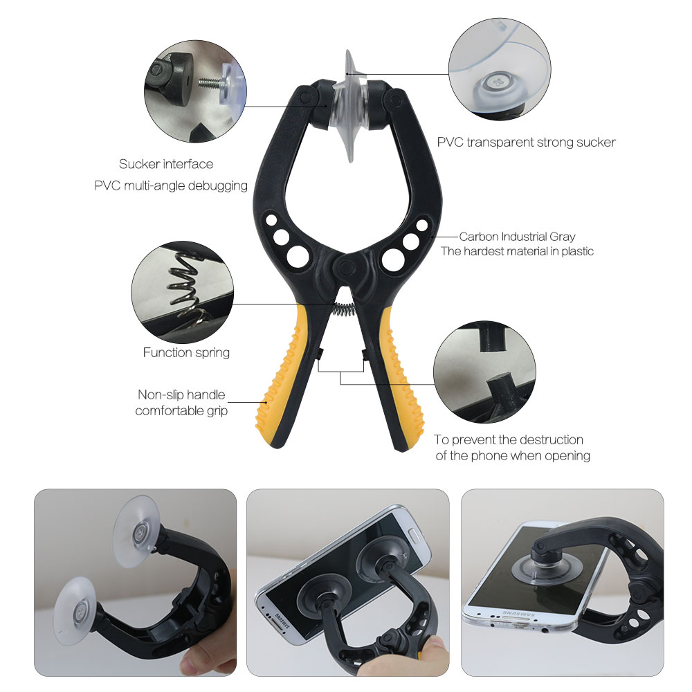 Free shipping BST 609 Cell phone repair tool kit with screen opening pliers suction cup Opening Tools for iphone