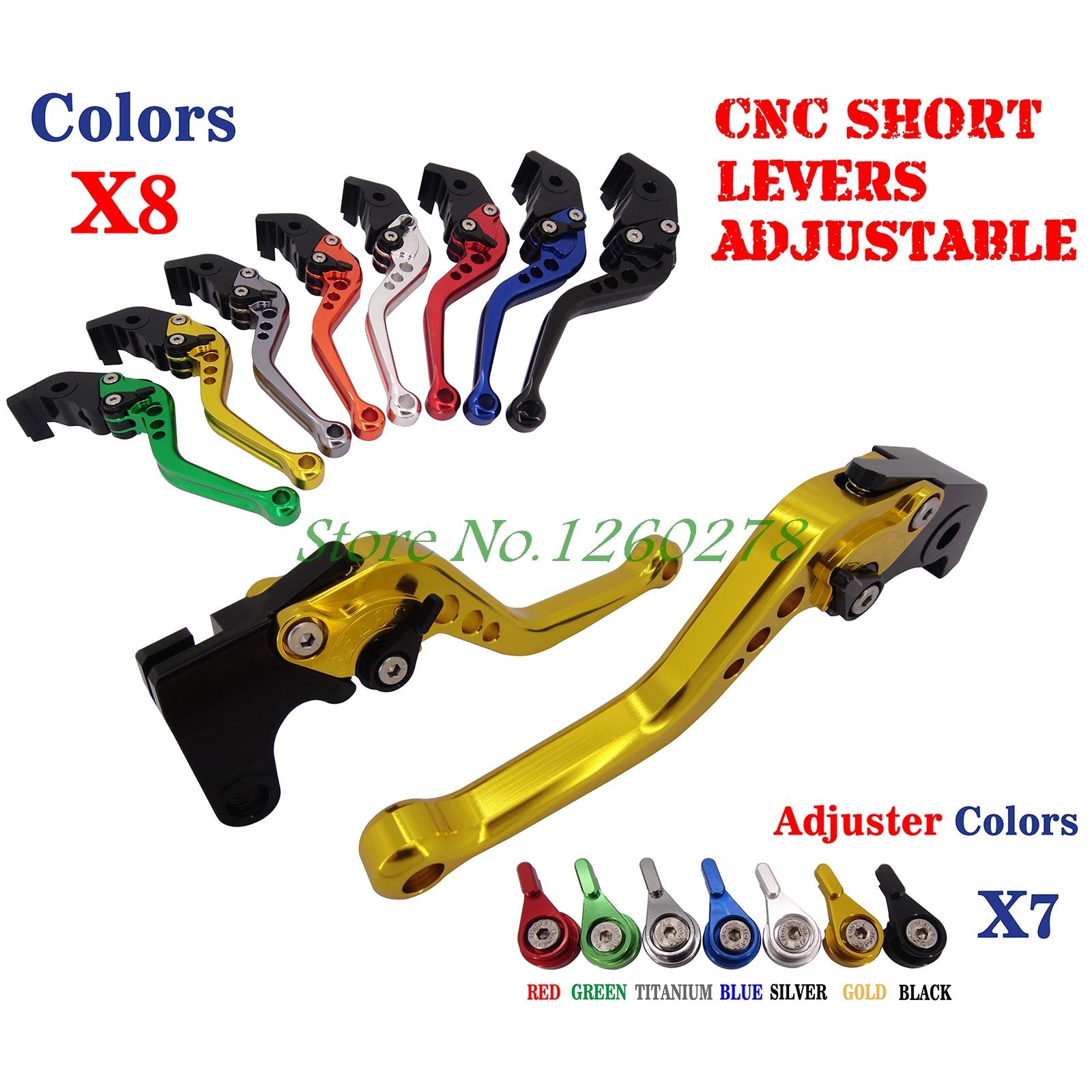 Short Adjustable Brake Clutch Levers For Suzuki SV1000/S TL/DL1000 GSX650F GSF650/S Bandit GSX1250F GSX1400 GSX1300R Hayabusa adjustable long folding clutch brake levers for suzuki gsx 650 f gsx650f 08 09 10 11 12 13 14 15 2014 gsf 650 bandit n s 2015