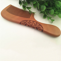 Handmade Natural Ox Horn Pear wood Comb Wooden Handle Combs Hair Style Designer Professional For Ladies Great Gift