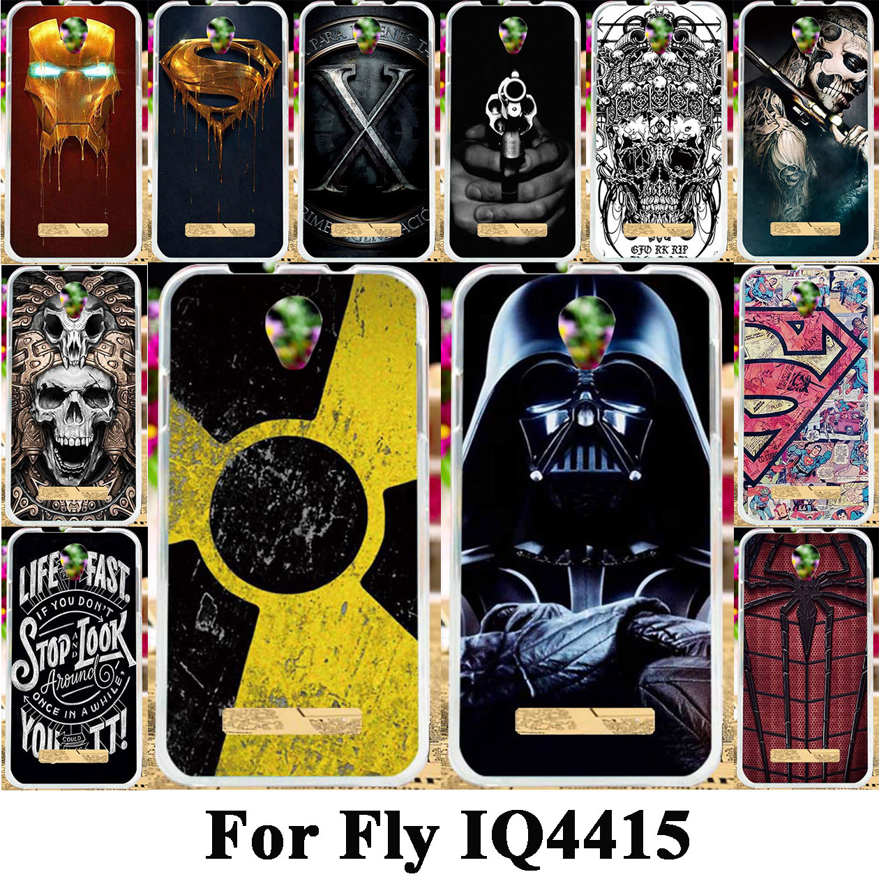 Taoyunxi Silicone Phone Case For Fly IQ4415 quad Era Style 3 IQ 4415 4.5 inch Bag Shell Cover Skin Flexible Covers Cases