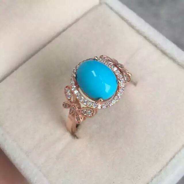 Natural green turquoise Ring Natural gemstone Ring S925 sterling silver trendy Luxury bow-knot women girl party gift Jewelry trendy fuax turquoise carved rounded rechtangle ring