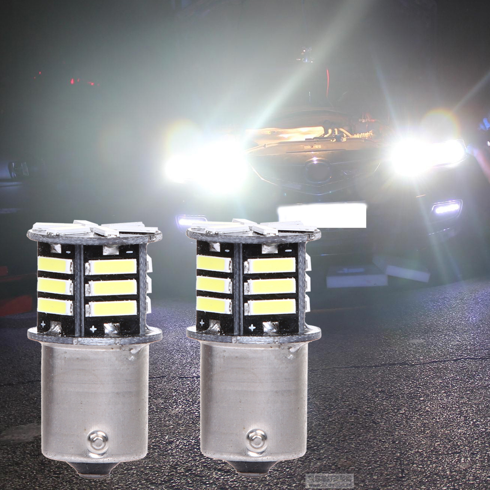 2pcs/lots Car Light 500 Lumen 12V White LED Tail Backup Reverse Light Bulb BA15S 1156 7506 High Quality