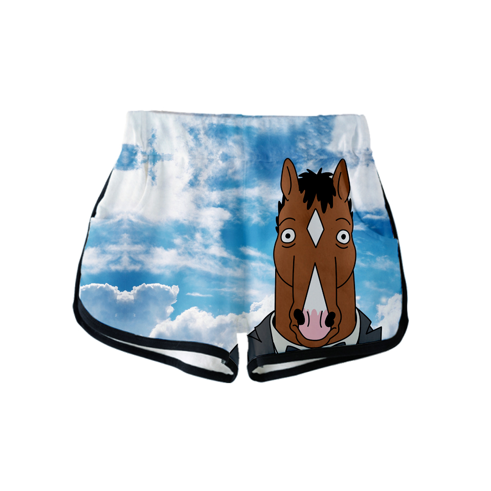 2018 3d Bojack Horseman Women/men Clohtes 2018 Ladies Shorts Hip Hop Kawaii Casual Shorts Kpop Cool Plus Size Q-1260-yh06