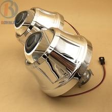 3.0 pulgadas H1 HID Bixenon Proyector Lentes de Faros para Ford Focus 2 3 2012 2013 Automóviles Xenon H4 H7 Faros DIY Metal lente