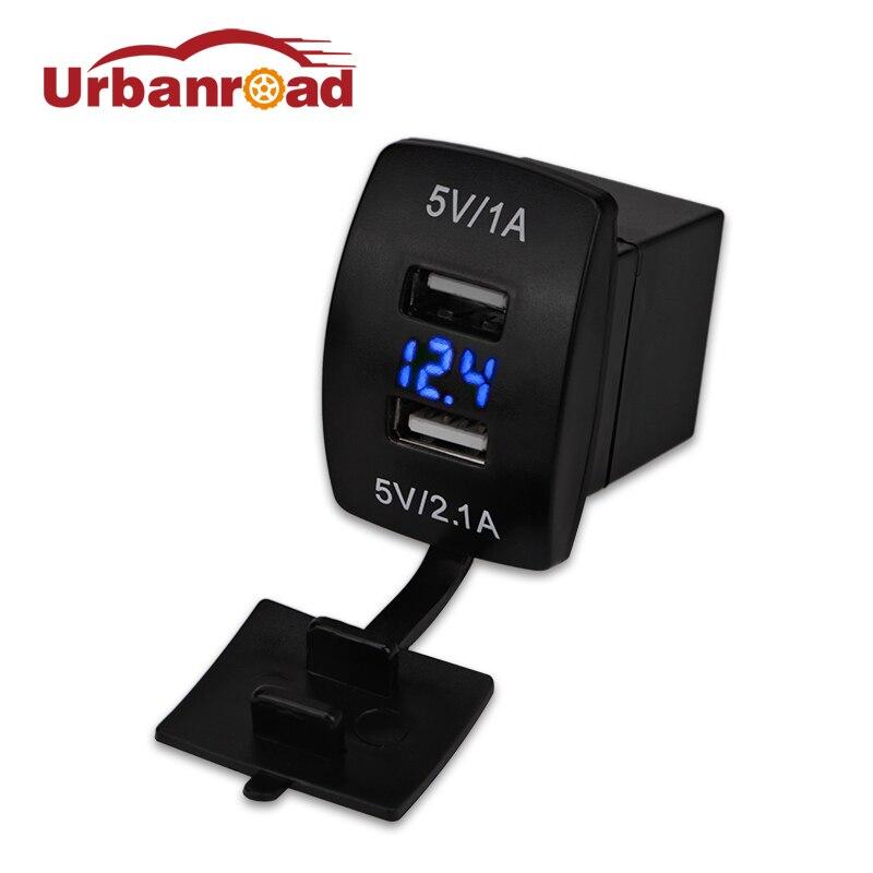 Moto De Voiture USB Étanche Chargeur 12 v 24 v 3.1A Double USB Chargeur de voiture Voltmètre Socket Power Adapter Pour Samsung Iphone 6 6 S
