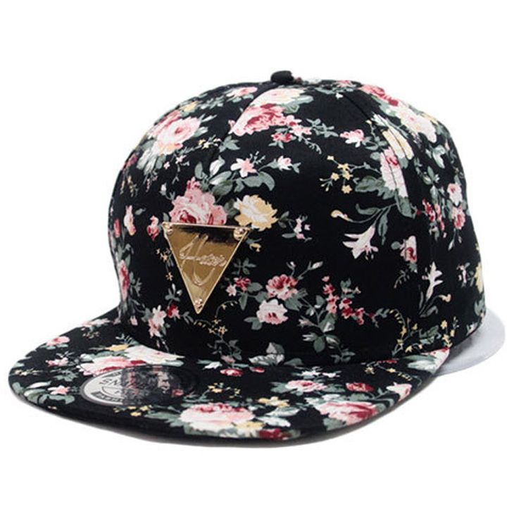 Can Track Baseball Cap Floral Hip Hop Hat Snapback Flat Peaked Adjustable Flower Hat For Women Caps Fashion red 2 pin spst miniature 2a 125vac 12mm hole no momentary push button switch