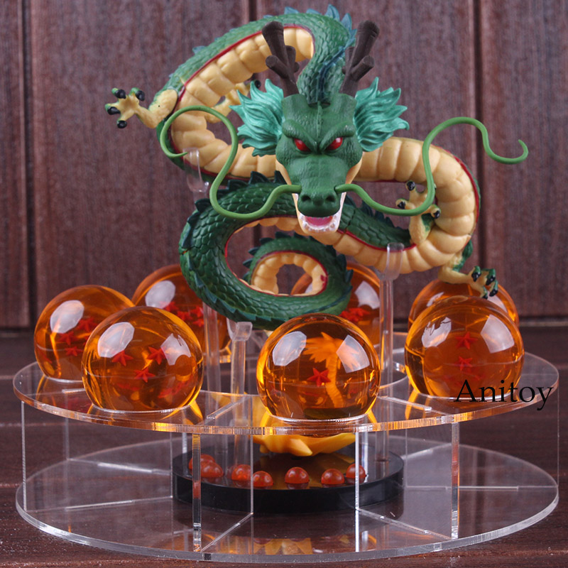 Dragon Ball Z Figure Shenron + 7 Crystal Balls 4CM Set WCF MEGA MG01 PVC Dragon Ball Shenron Figure ShenLong Collectible Toy