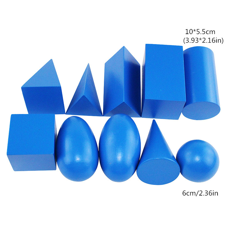 Montessori formes enfants jouets préscolaire matériel d'enseignement formes géométriques groupe avec boîte - 5