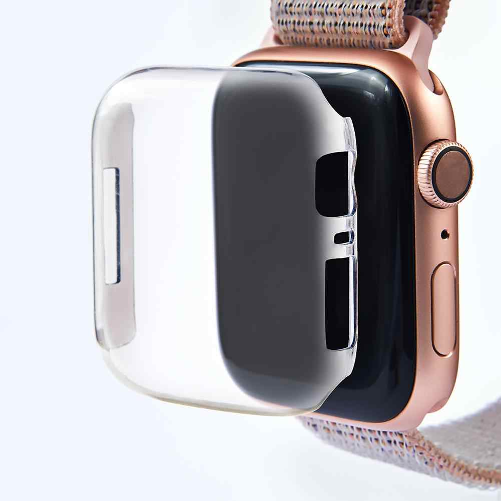 The Intelligent Electronic Accessory Case Is Suitable For The Apple Watch 4 Series of 40 / 44mm Transparent Color Protection Scr