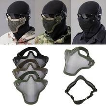купить Half Lower Face Metal Steel Net Mesh Hunting Tactical Protective Airsoft Mask Gofuly по цене 286.58 рублей