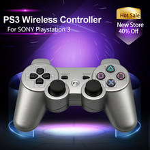 Dualshock Wireless Bluetooth Gamepads For Playstation 3 Support Vibration Remote Controller Fit PS3 Console 4 Colors(China)