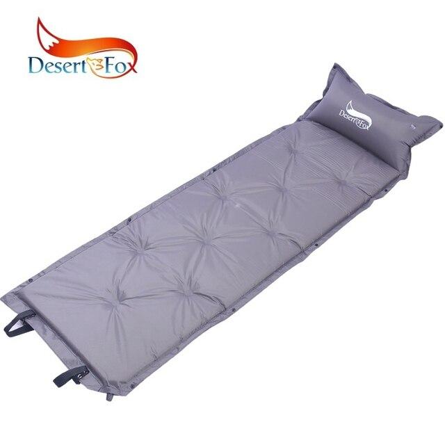 Desert & Fox 180x53 centímetros Almofadas de Auto-Inflável Dormir com Travesseiro, confortável Colchão de Ar da Barraca Mochila para Camping, Caminhadas