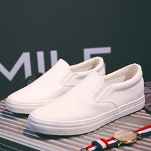 Fashion Sneakers 2019 Mens Loafers Leather Men Low Top Soft Comfortable Casual Shoes Male Brand White