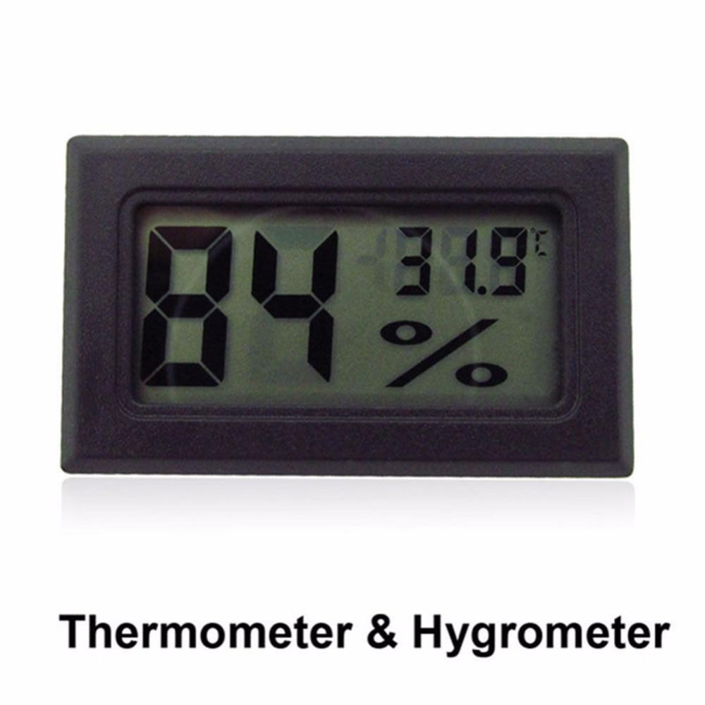 Mini LCD Digital Hygrometer Temperature Meter For Bath Kitchen Merchandises For Refrigerator Fridge Freezer Ice Humidity Control