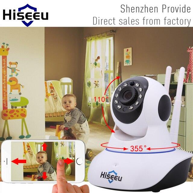 Hiseeu HD 720 P Беспроводная Ip-камера Wi-Fi Ночного Видения wi-fi камера Высокое Качество Сети Ip-камера ВИДЕОНАБЛЮДЕНИЯ WIFI P2P Безопасности камера