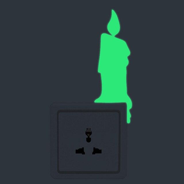 Pegatinas con luz dibujo vela