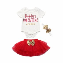 ship from us muqgew 3pcs newborn infant baby girl daddys letter romper
