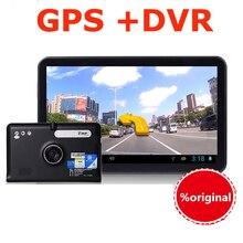 """7 """"Android Pantalla Táctil Capacitiva de Navegación GPS Coche dvr Grabador videocámara WIFI FM Camión vehículo gps Construido en 8 GB Libre mapa"""