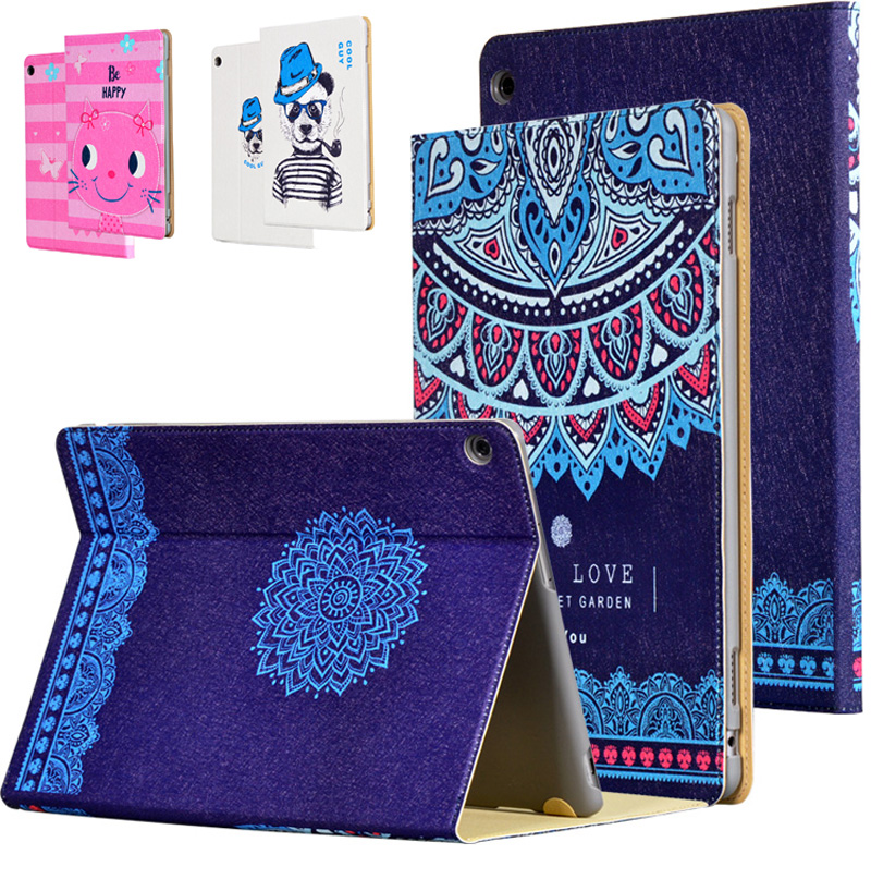 Ultra Slim Print Protector Cover Folio Stand PU Leather Skin Case For Huawei MediaPad M3 Lite 10 BAH-W09 BAH-AL00 10.1 Tablet coque smart cover colorful painting pu leather stand case for huawei mediapad m3 lite 8 8 0 inch cpn w09 cpn al00 tablet