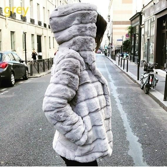 Women Faux Fur Jacket Winter Warm Coats 2018 Women Mink Coats Winter Hooded New Jacket Warm Thick Outerwear Jacket