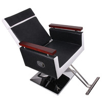 Shellhard Barber Chair Stylish Comfy Reclining Hydraulic Barber Salon Chair Hairdressing Home Furniture Black