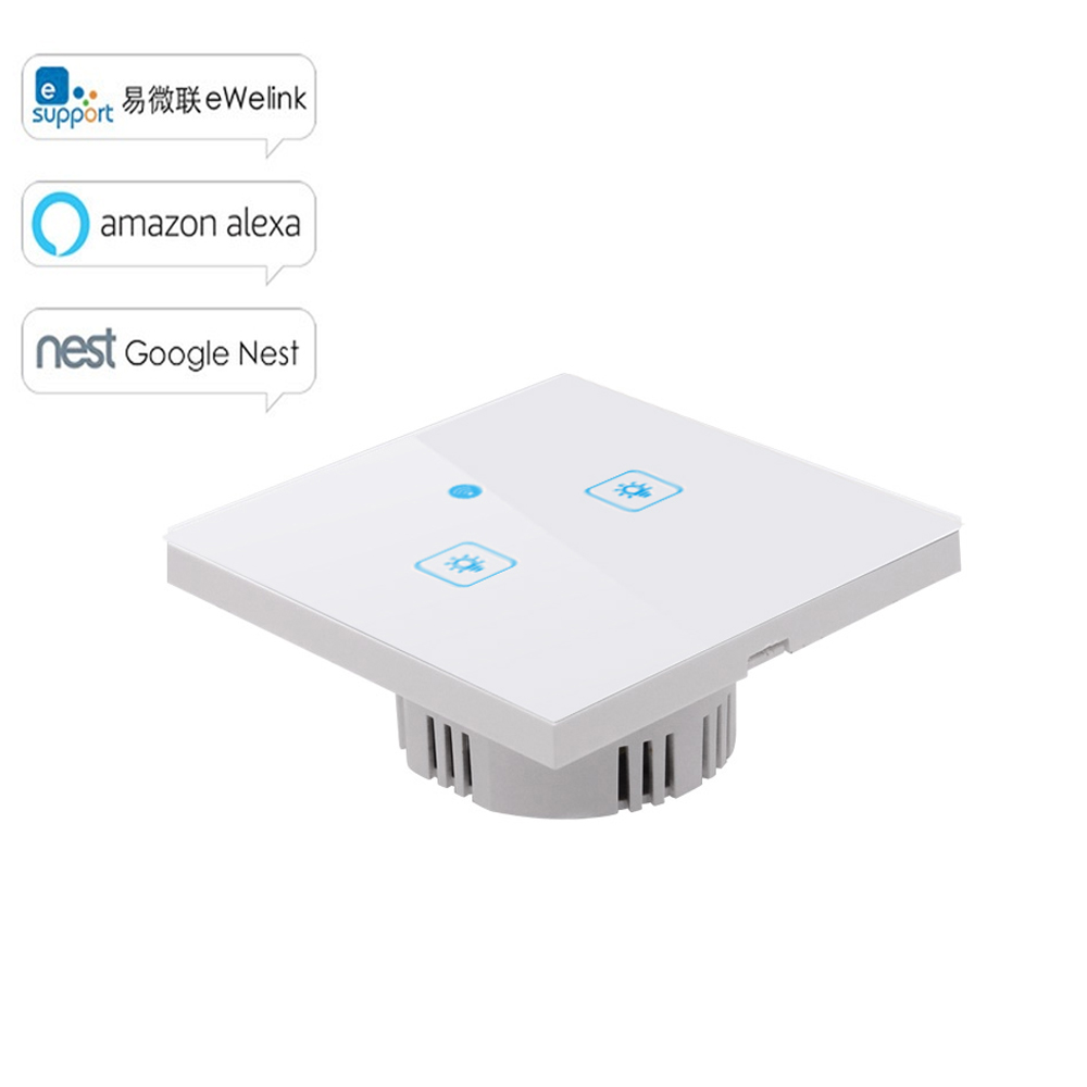 Sonoff WS EU/UK/US WiFi Wireless APP Touch Control Wall Light Timing Switch 86/120 Type Smart Home Automation Work with Alexa sonoff touch wifi wireless remote control wall timing switch