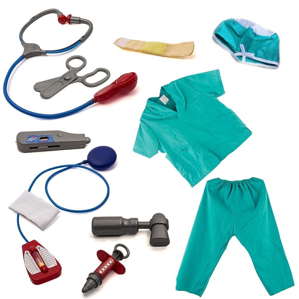 Nouveau Enfant Bleu de Médecin Robe up Chirurgien Costume Ensemble et Accessoires en gros