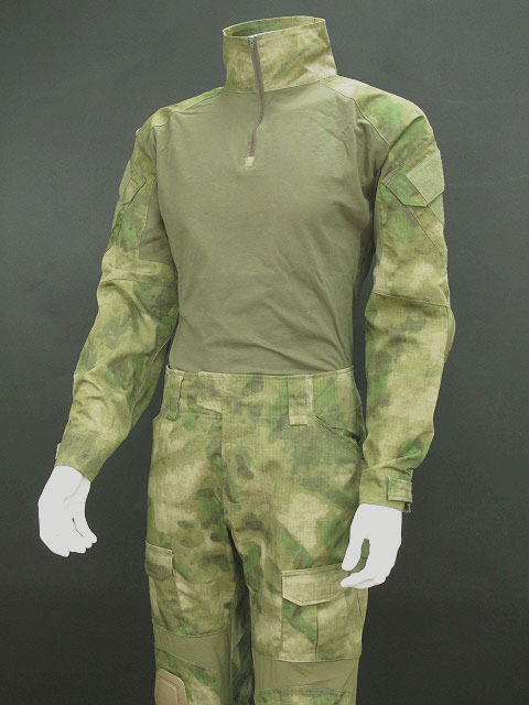 Airsoft Tactical Combat Uniform Shirt & Pants W Knee Pads A-tacs Fg To Produce An Effect Toward Clear Vision
