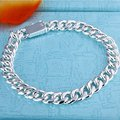 Sterling Silver 925 Jewelry 925 Sterling Silver 8MM Twisted Singapore Chains Buckle Bracelets Cuff Bangles H227