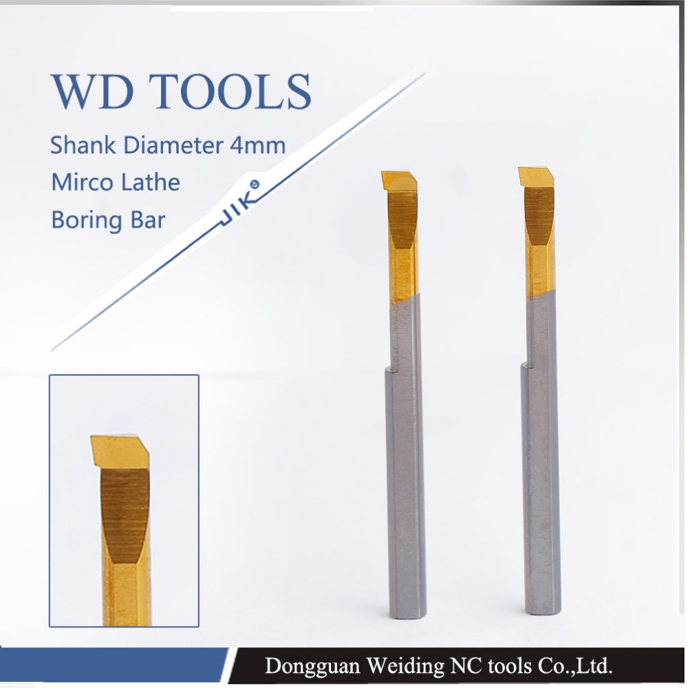 3pcs D4 4mm mirco lathe shank Small hole boring cutter bar alloy boring cutter handle mini
