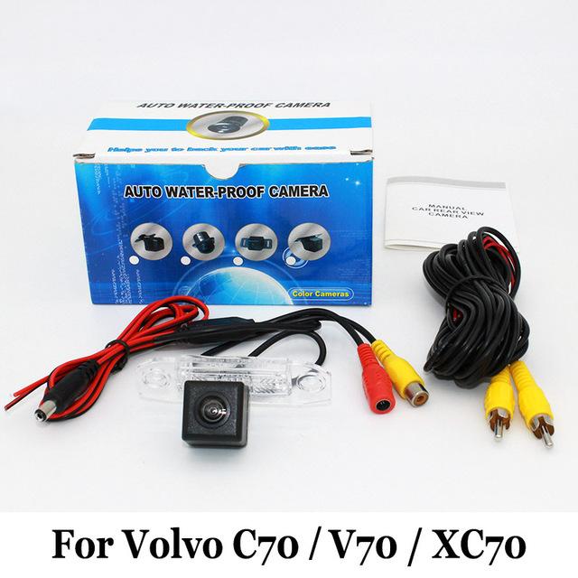 Câmera de Visão traseira Para Volvo C70 V70 XC70/RCA Com Fio Ou Sem Fio/HD Lente Grande Angular/Visão Noturna CCD/Câmera de Segurança Do Veículo
