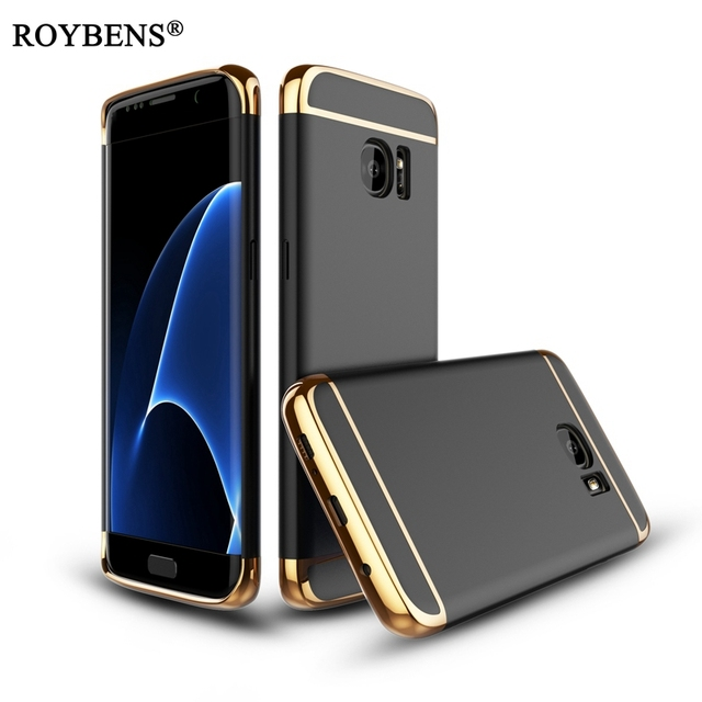 cde9157d470d19 S7 S7 Rand Case S8 Plus Case Roybens Gold Hard PC Case Cover Voor Samsung