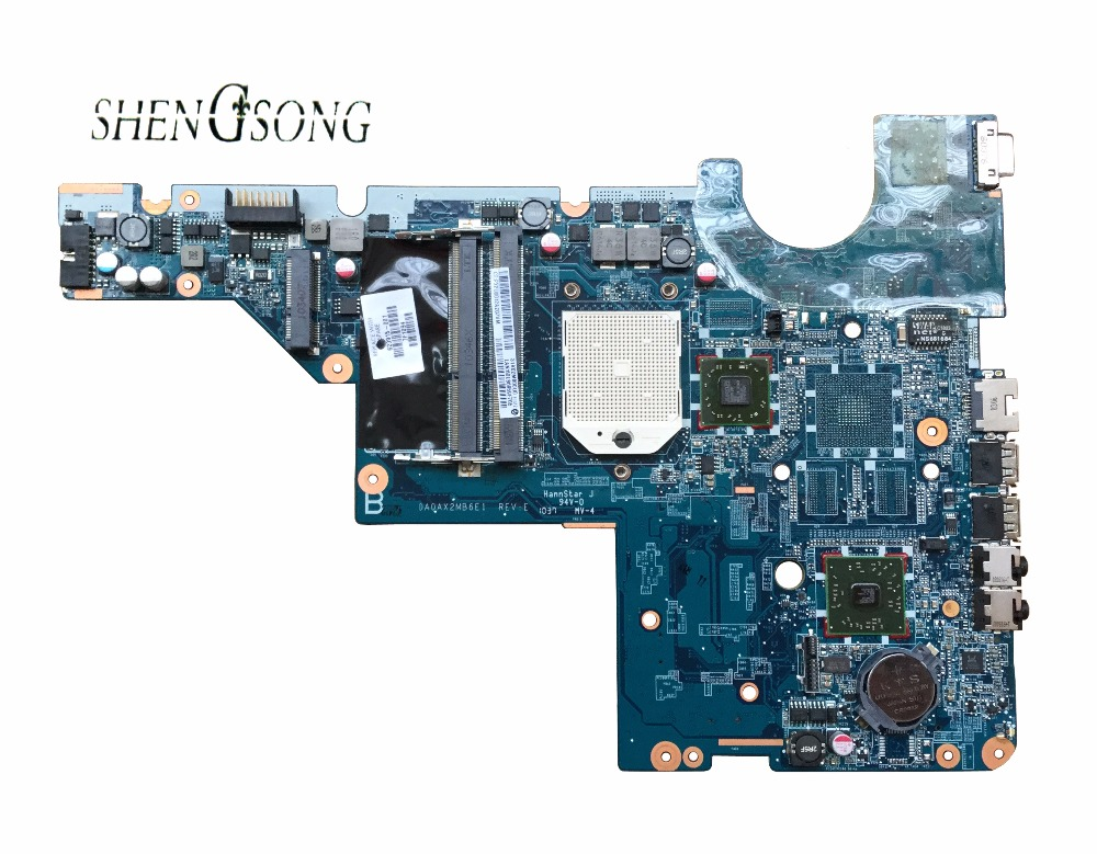 Free Shipping 623915-001 for HP CQ56 G56 CQ62 G62 laptop motherboard DA0AX2MB6E1 REV : E Tested Fully 574680 001 1gb system board fit hp pavilion dv7 3089nr dv7 3000 series notebook pc motherboard 100% working