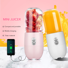 Portable Usb Electric Juicer Machine Baby Food Soy Milk Orange Lemon Juicer 350ML Student Portable Mini Blender Juice Dispenser portable electric juice cups home mini juicer handheld food supplement juice machine charge
