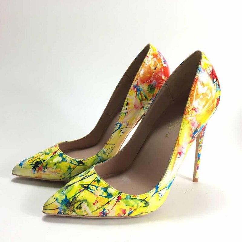 2018 ربيع جديد السيدات عالية الكعب مضخات ol الوظيفي واشار تو عالية الكعب بو الجلود رسمت ارتفاع كعوب النساء مضخات-في أحذية نسائية من أحذية على  مجموعة 3