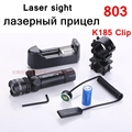 [ReadStar]803# Red Green Laser scope laser sight for gun with mount grips clip include 16340 battery and charger Retail packing