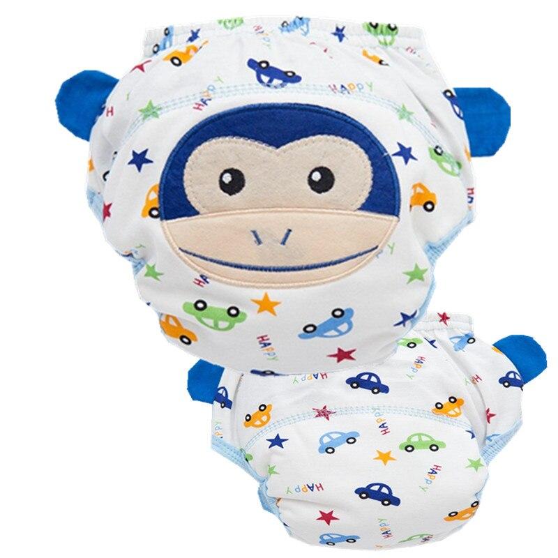 4 capas de pañales de algodón del bebé pañales pantalones de - Pañales y entrenamiento para ir al baño - foto 2