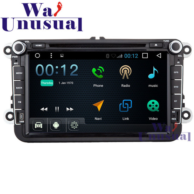 """8"""" Android 6.0 Auto GPS Navigation for VW Universal Radio Stereo with Wifi BT DVR Mirror link Quad Core 16G TV 3G 1024*600 Maps"""