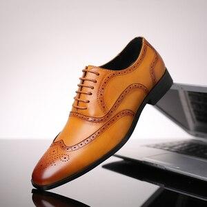 Image 2 - 2019 rozmiar 38 48 męskie buty wizytowe biuro społeczne projektant ślubne luksusowe eleganckie męskie buty sukienka # SY R7878