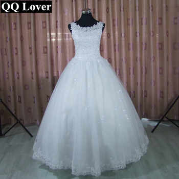 QQ Lover 2019 Lace Ball Gown Wedding Dress Free Shipping Cheap Vestido De Noiva - DISCOUNT ITEM  36% OFF All Category