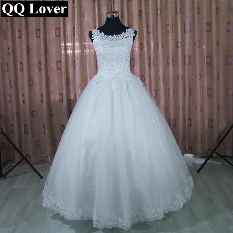 QQ Lover 2020 Lace Ball Gown Wedding Dress Free Shipping Cheap Vestido De Noiva