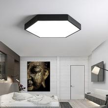 DX современные светодиодные потолочные светильники минималистичный светильник для гостиной ультра-тонкий шестигранный светильник пульт дистанционного управления лампа Диммируемый блеск