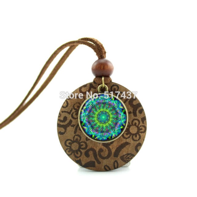 product men long pendant stone wood rope resin gift women handmade sandalwood necklaces jewelry necklace lureen natural chain