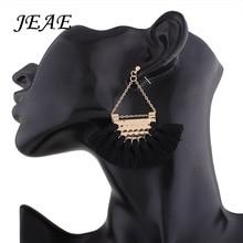 JEAE 2017 Women Fashion Bohemian Vintage Earrings fan shaped Tassel Dangle Earrings Jewelry Wedding Accessories 10