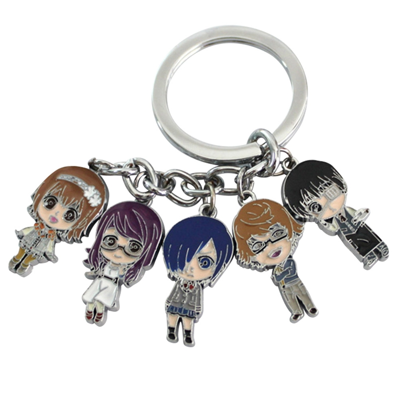 Tokyo Ghoul Unravel Keychains Japanese Anime Cartoon Figures Keychain Holder Trinkets Gift Pendants Accessories Charms